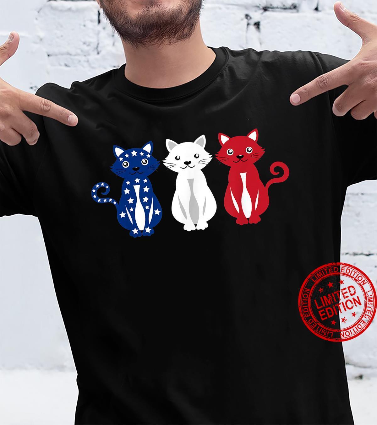 Cats USA America Flag 4th of July Patriot Shirt