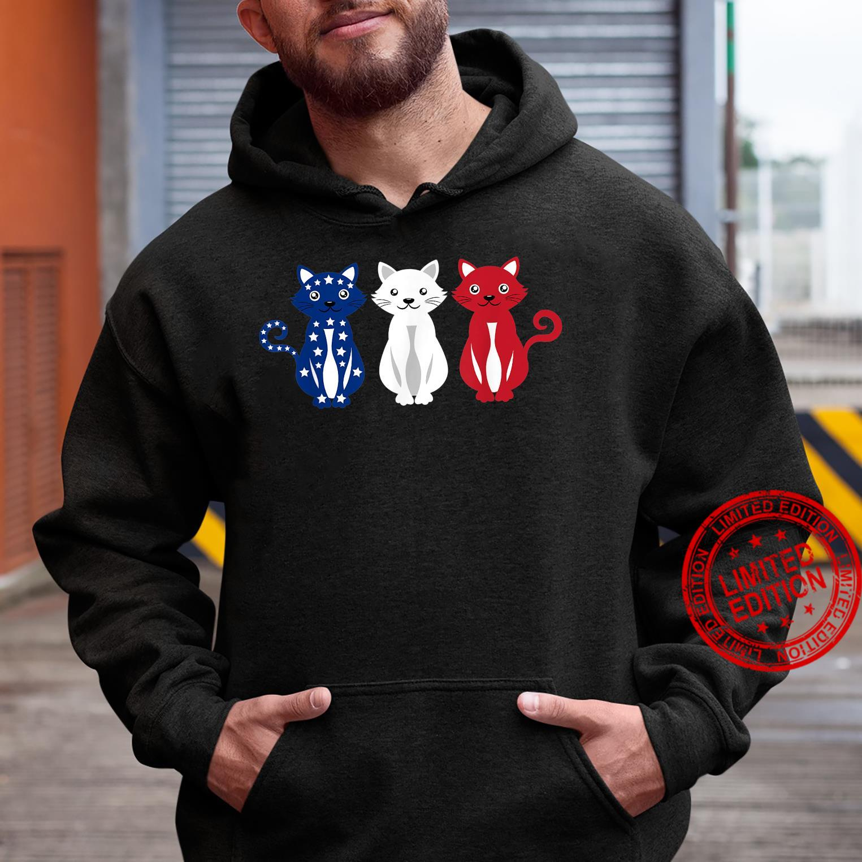 Cats USA America Flag 4th of July Patriot Shirt hoodie