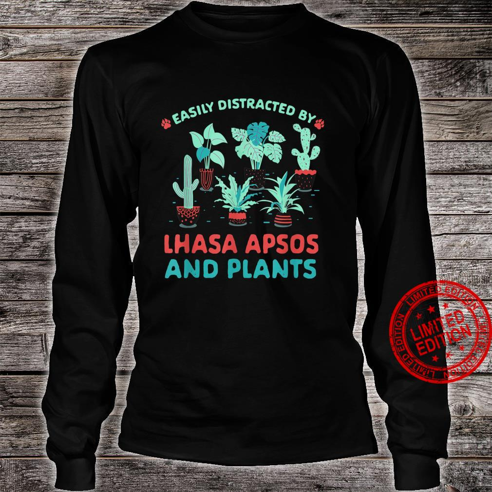 Easily Distracted by Lhasa Apsos and Plants Shirt long sleeved