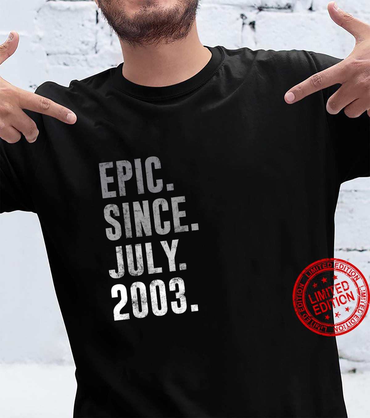 Epic Since July 2003 18th Birthday Vintage 2003 Shirt
