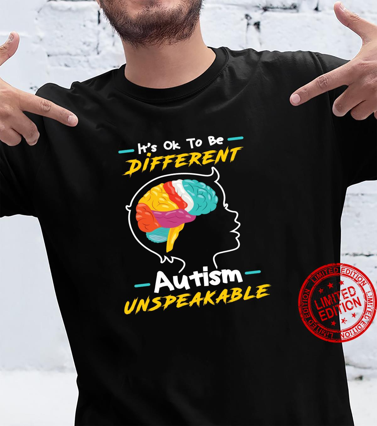 It's Okay To Be Different AutismUnspeakable Shirt