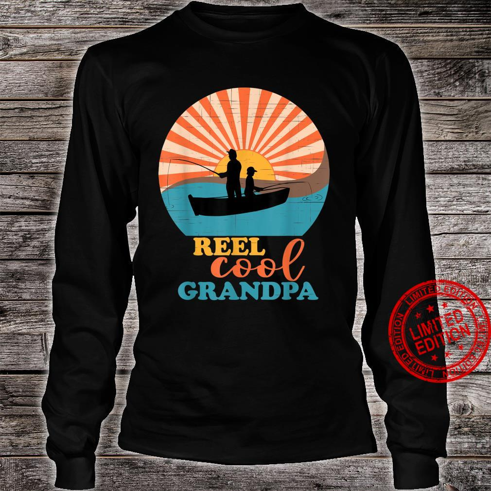 Mens Fathers Day Fishing Reel Cool Grandpa from Grandson Matching Shirt long sleeved