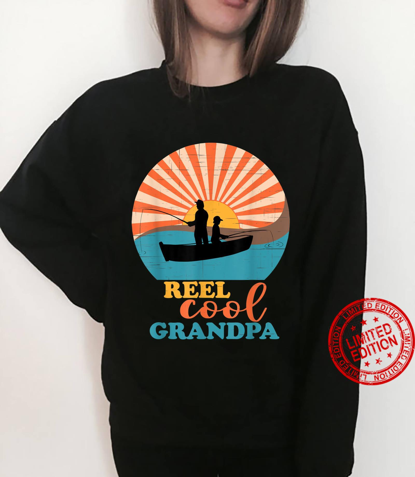 Mens Fathers Day Fishing Reel Cool Grandpa from Grandson Matching Shirt sweater