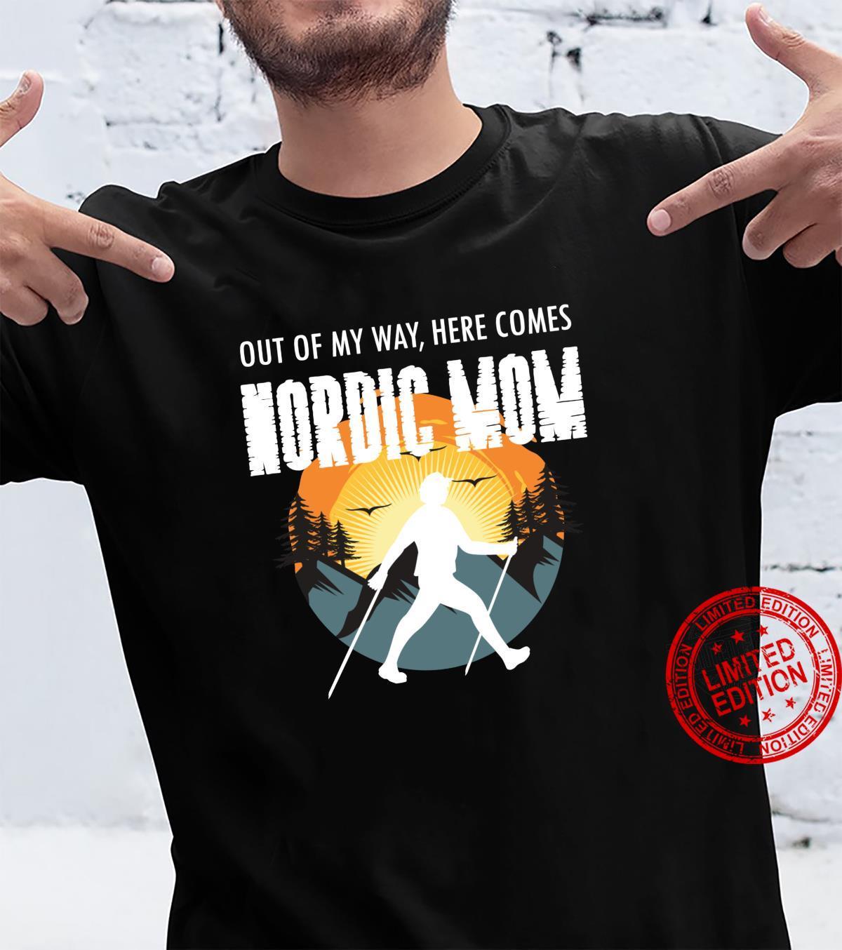 Mutter Geschenk Idee Nordic Mom, Nordic Walking Sport Shirt