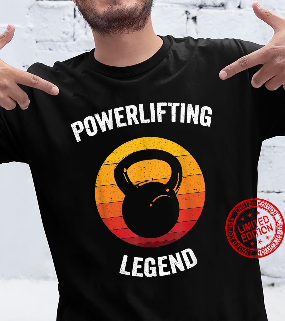 Powerlifting Legend Vintage Weightlifting Gym Shirt