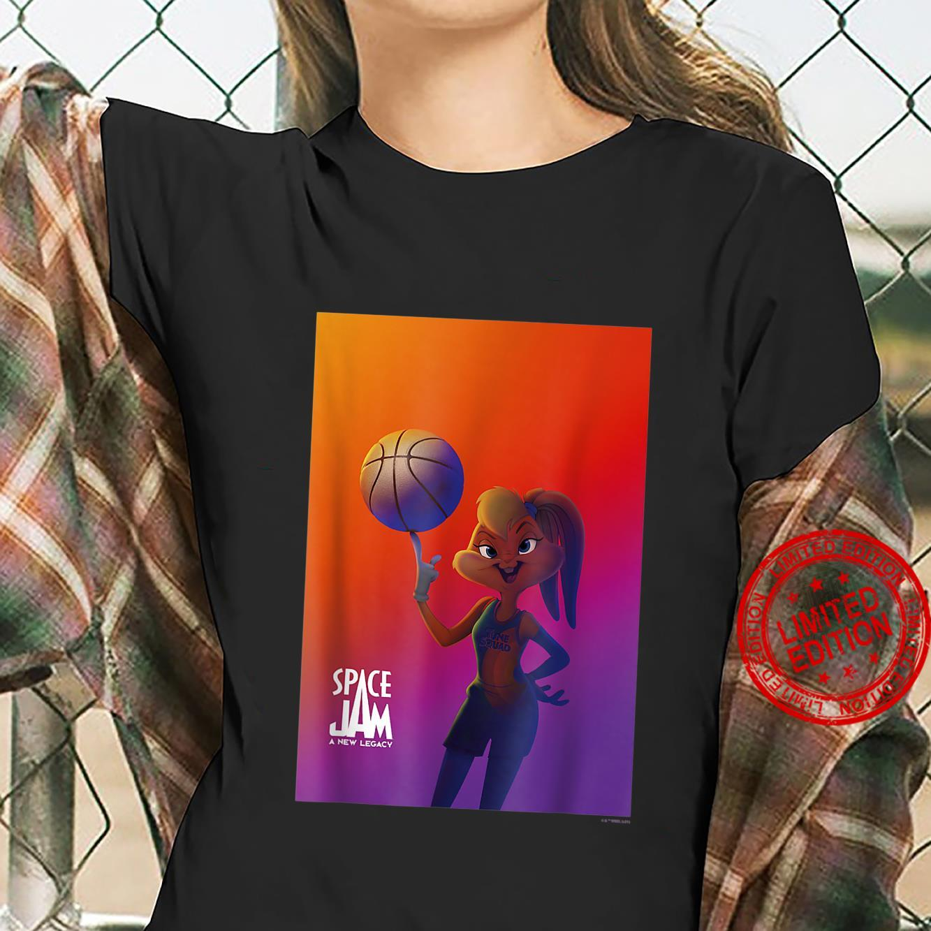 S.pace J.am A New Legacy L.ola With Basketball Poster Shirt ladies tee