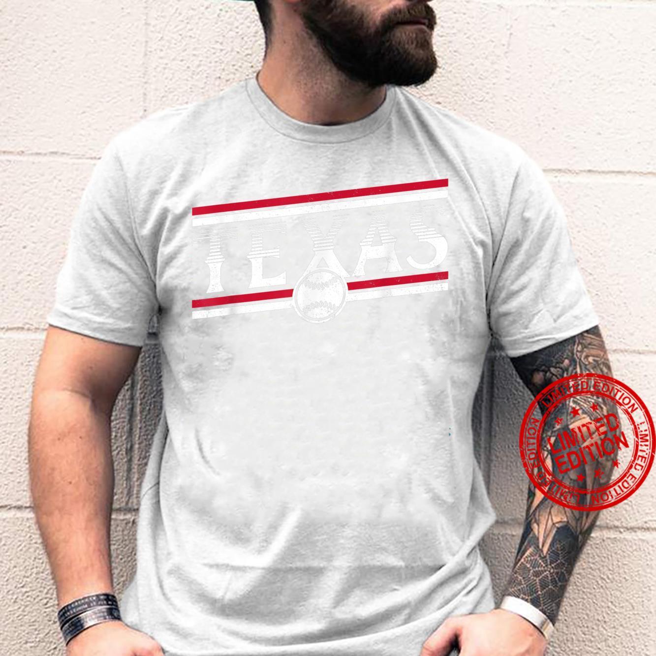Texas Baseball TX Vintage Distressed Game Day Ranger Shirt
