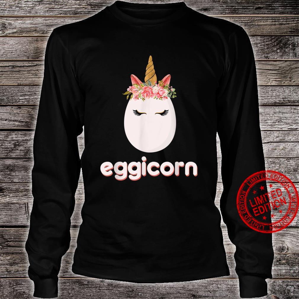 Unicorn Happy Easter Egg Hunt Eggicorn Mythical Beast Horn Shirt long sleeved