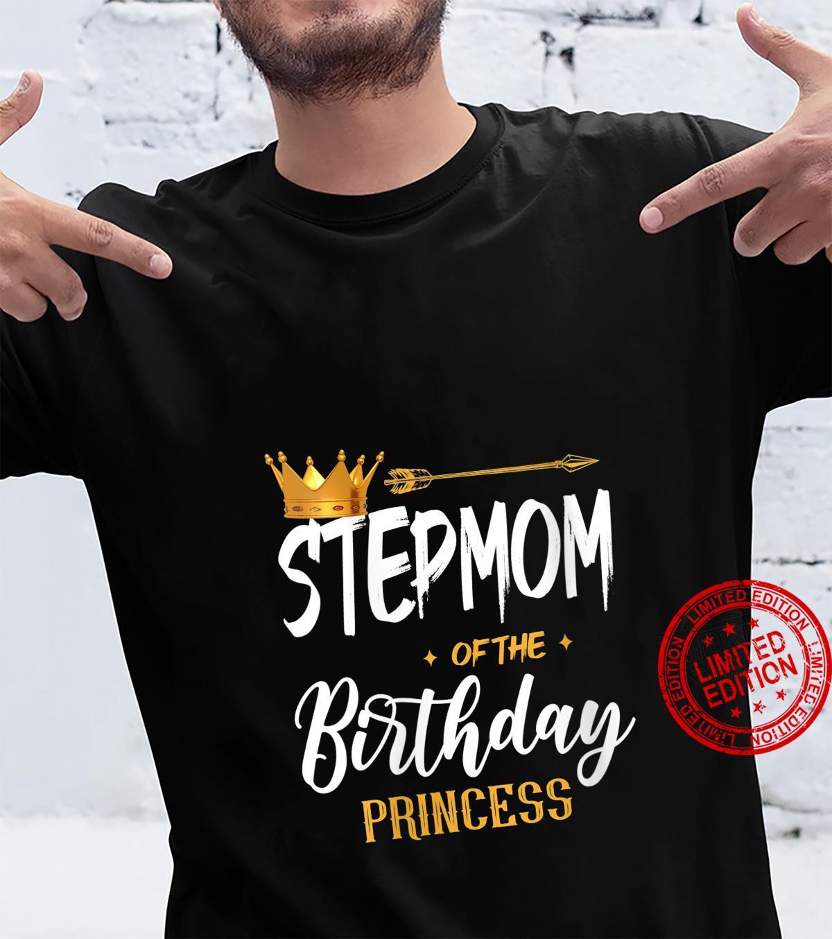 Womens Stepmom Of The Birthday Princess Mama Mommy Grandma Shirt