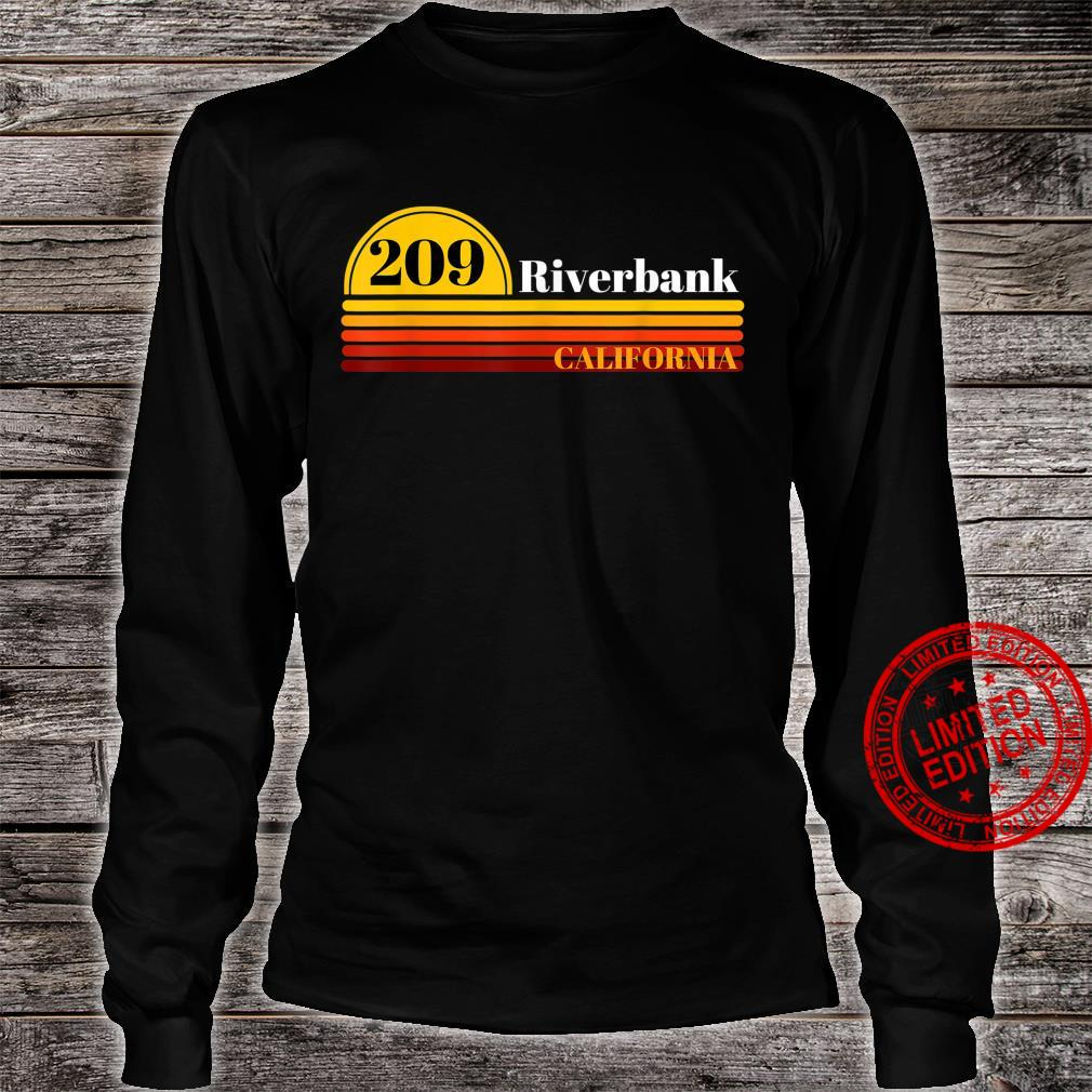 209 Riverbank California Vintage Retro Style with Area Code Shirt long sleeved