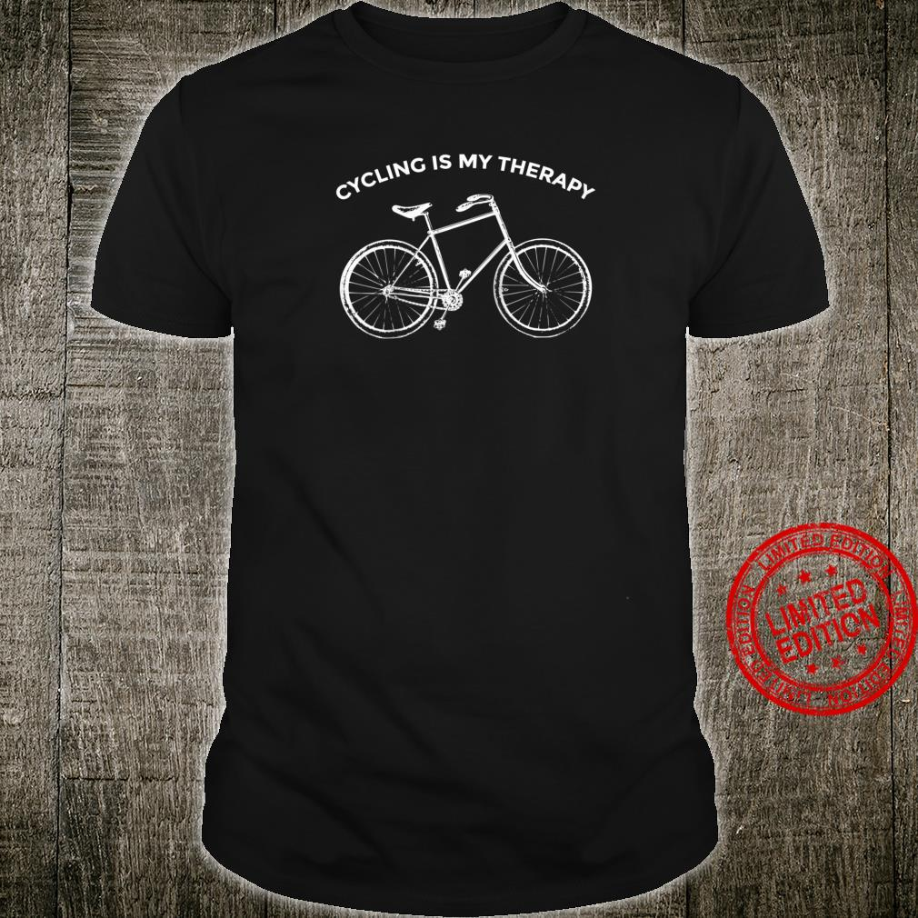 Cycling Is My Therapy Cyclist Casual Vintage Bicycle Shirt