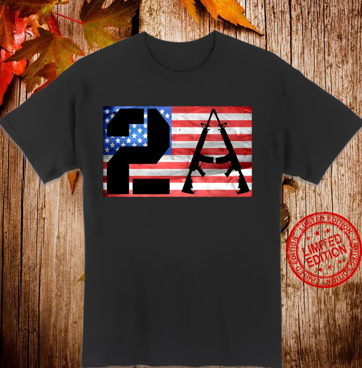 Second Amendment of the Bill of Rights US Constitution Shirt