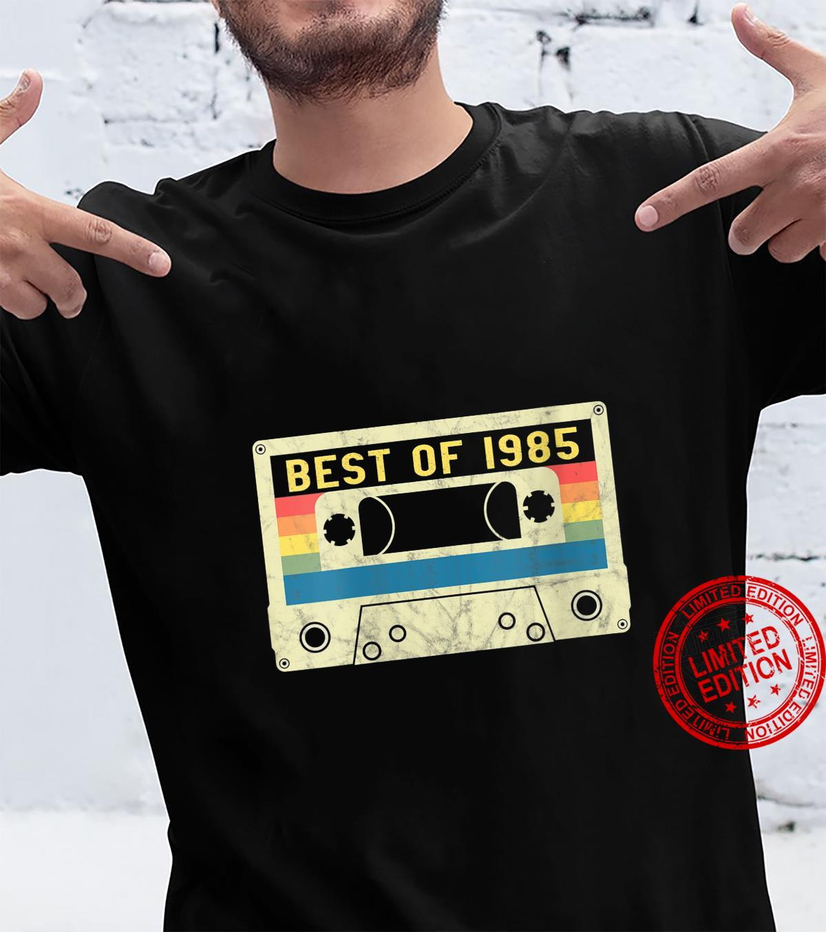 Womens 36 Years. Best of 1985. 80s Style Cassette Tape Shirt
