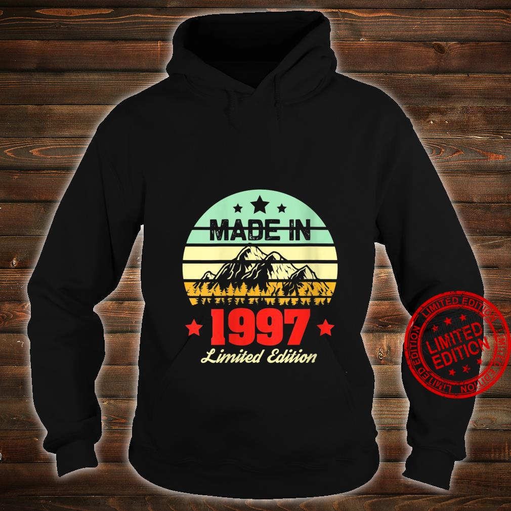 Womens for 23 Year Old Vintage Mountain 1997 23rd Birthday Shirt hoodie