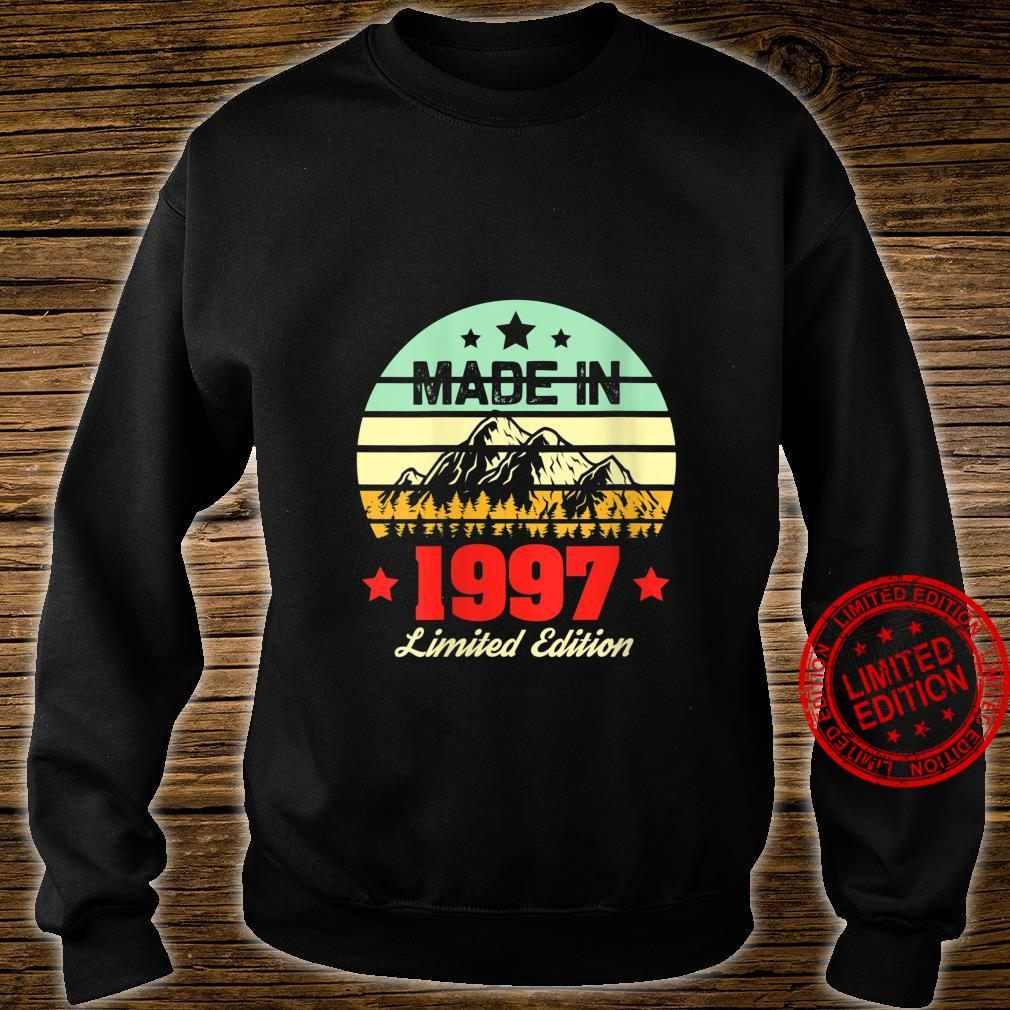 Womens for 23 Year Old Vintage Mountain 1997 23rd Birthday Shirt sweater